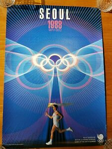SEOUL KOREA 1988 Summer Olympic Games Official Poster.