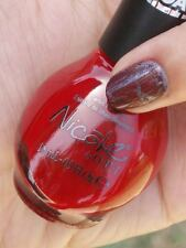 NEW! Nicole By OPI Texture Coat nail polish lacquer RED TEXTURE Top Coat