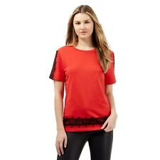 Debenhams Preen Edition Red Lace Shoulder Sweater Red Size UK 8 LF075 OO 12