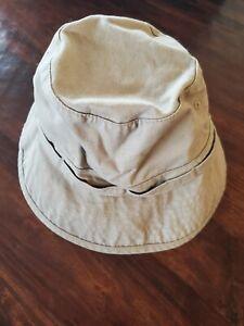Baby Gap Kids Bucket Hat Cotton Hat Khaki 100% Cotton Chun Strap SIZE 2-4 yr