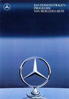 0685MB Mercedes Personenwagen-Programm Prospekt 1987 8/87 brochure model range