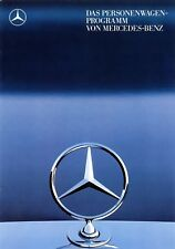 Mercedes Personenwagen-Programm Prospekt 1987 8/87 brochure model range