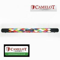 3/4 SNOOKER/POOL CUE CASE. DIAMOND PATCHWORK DESIGN ROUND. FREE DELIVERY!