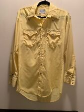 Vintage Rockmount Ranch Wear Embroidered Western Shirt Pearl Snap Front 15.5-32