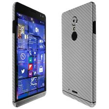 Skinomi Silver Carbon Fiber Skin+Clear Screen Protector for HP Elite x3