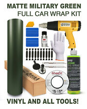 VViViD Matte Military Green FULL CAR WRAP KIT! All tools and vinyl you'll need!