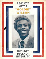 """Back to the Future Re-Elect Mayor Goldie Wilson - 17""""x22"""" Movie Prop Print-00215"""
