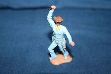 Timpo Toys Cowboy  - c1970s vintage - light blue plastic figure Gr Britain