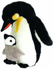 Keel Toys Wild - 30cm Mother & Baby Penguin Cuddly Soft Toy Plush /Teddy SW4645