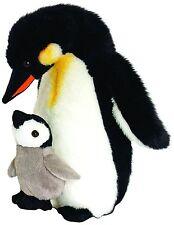 Keel TOYS WILD - 30 cm Madre e Bambino, Pinguino di Peluche giocattolo morbido peluche/Teddy SW4645