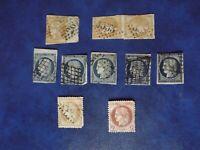 france lot de timbres type céres n°4, 36, 43A et 51