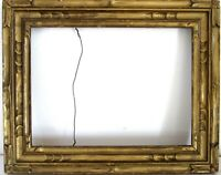 ANTIQUE AMERICAN ART & CRAFTS GILDED WOOD FRAME FOR PAINTING  12 X  9  INCH