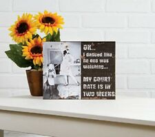 CANVAS art of Woman - MY COURT DATE, FREE SHIPPING!