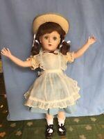 "Vintage 1940s Margaret O'Brien 18"" HP Doll By Madame Alexander, Orig. Dress"