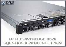 DELL POWEREDGE R620 4 BAYS 2x E5-2650 2GHz 8C 48GB RAM H710 SQL 2014 Enterprise