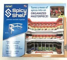 Spice Rack Organizer Adjustable Stackable Spicy Shelf System