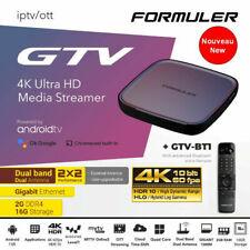 FORMULER GTV 4K HDR WIFI 5G ANDROID 2GO 16GO QUAD CORE MYTVONLINE2 STREAMER NEUF