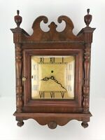 Vintage Nutone Telechron Motored Wall Clock Classic Wood With Chime Doorbell