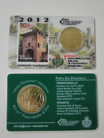 "Coincard Officiel San Marino 2012 ""porte- de St. Francesco"" Timbre 50 cent"