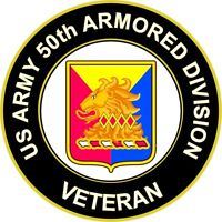 """Army 50th Armored Division Veteran Unit Crest 5.5"""" Sticker 'Officially Licensed'"""