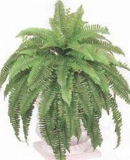 """Boston Fern 48"""" Spread 88 Silk Leaf Bush Plant Artificial Flower Sago not potted"""