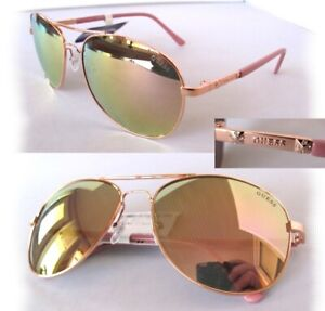 New GUESS GF0295 Rose Gold/Rose mirror Womens Sunglasses $75