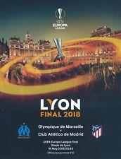 UEFA EUROPA LEAGUE  FINAL 2018 Atletico Madrid v Marseille - Official Programme