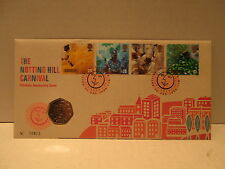 1998 Great Britain coin & stamp cover The Nottins Hill Carnival 50 pence coin