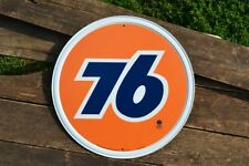 Union 76 Gasoline Tin Metal Sign - Phillips 66 - Gas & Motor Oil - Vintage Retro