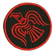 Viking Raven Odin embroidered patch norse rune astral threads