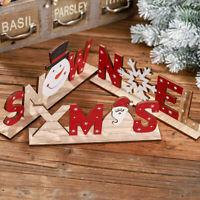 Party Decor Christmas Tree Xmas Ornament Santa Claus&Snowman&Noel Wooden Crafts