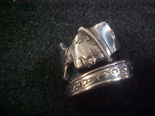 Charlie McCarthy silverplate Spoon Ring Size 9 1/2 Made from collector spoon