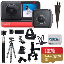 Insta 360 One R doble Edition + Tarjeta SD de 64GB + Paquete De Accesorios Monopie + Top