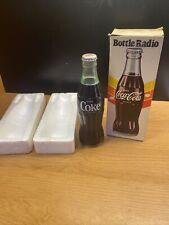 Coca Cola BOTTLE RADIO in Original Box AM 1970 Vintage Collectible. UNTESTED