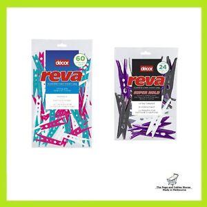 60 Reva Regular Pegs + 24 Reva Super Hold Clothes Pegs Australian Icon Laundry
