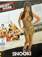 Jersey Shore Snooki Gold Animal Print Sexy Halter Stretch Halloween Dress S