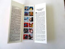 France Booklet Pane of 12, Angouleme Festival Cartoons in Souvenir Folder, 1988