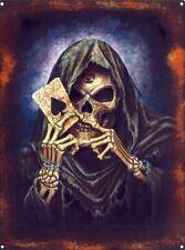"ALCHEMY SKELETON ACE OF SPADES CARD JUMBO FRIDGE MAGNET 2"" X 3"" F.U.M. TOOLS FUM"