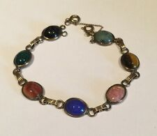 "plated 7"" (#56) Scarab bracelet gold"