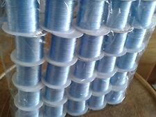 Fil de 1mm  élastique pour fabrication bijoux, couleur bleu, prix pour 3 bobines