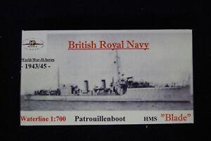 HP Models 1:700 Waterline  - brit. Patrouillenboot  HMS  Blade -1943/45-