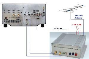 144mhz + 432mhz to 28mhz Highly Stable Transverter HD for FLEX RADIO VHF UHF 12W