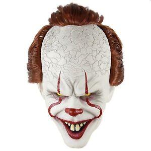 Pennywise Maschera Stephen di Re It Horror Clown Joker Halloween Cosplay Costume