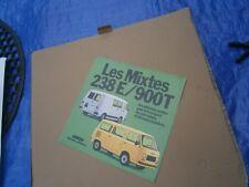 Catalogue pub auto prospectus voiture Fiat Les mixtes 238 E / 900 T