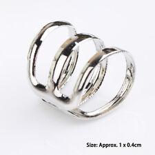 Men/Women Silver Punk Ear Clip Cuff Wrap No piercing-Clip On Earrings Jewelry