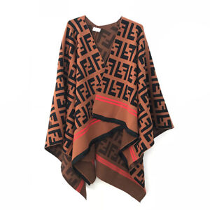 Fashion Women Casual Tassels Coat Knit Winter Popular Occident Cape Loose Cloak