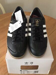 brand new adidas Hamburg Fishmarket Trainers Black And White size 9.5
