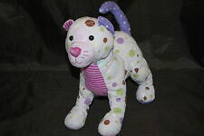 "Douglas Polkadot Cat Patchwork Purple Lavender Brown Green 10"" Plush Toy Lovey"