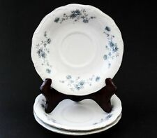 Johann Haviland Vintage Bavaria Blue Garland 3 Saucers Germany
