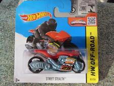 Hot Wheels 2015 # 083/250 Calle Stealth Rojo Moto Hw Off-road Funda F nueva fundición